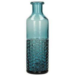 Dekoria Wazon Rustic Glass topaz 35cm, 11 × 11 × 35 cm