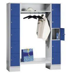 Eugen wolf System garderob ze schowkami,10 schowków na zewnątrz, 10 wieszaków na ubrania