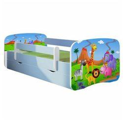 Łóżko dla chłopca z barierką happy 2x mix 80x180 - niebieskie marki Producent: elior