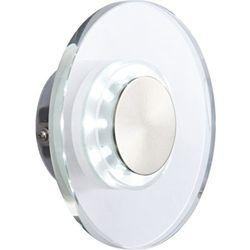 Globo Kinkiet lampa elewacyjna dana 32401 zewnętrzna oprawa ścienna led 0,6w okrągły kinkiet do ogrodu ip44 przezroczysty (9007371216840)
