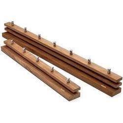Garderoba bez półki cutter drewno tekowe 100 cm, 1920481