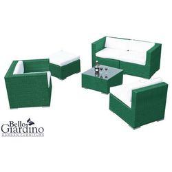 Zestaw mebli ogrodowych discreto zielone marki Bello giardino