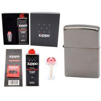 Zestaw Zapalniczka Pudełko ZIPPO Black Ice z150 GRAWER