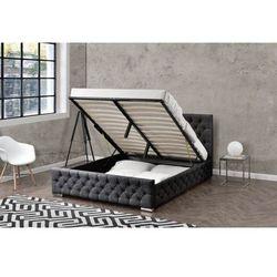 Łóżko tapicerowane do sypialni 180x200 1253g czarne marki Meblemwm