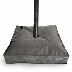 Obciążenie do parasola ogrodowego, napełniane wodą, szary, 28 cm