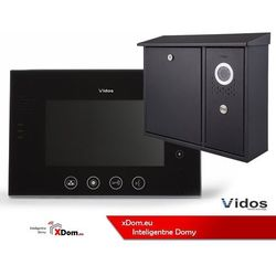 Vidos Zestaw skrzynka na listy z wideodomofonem. monitor 7'' s551-skn_m670b-s2