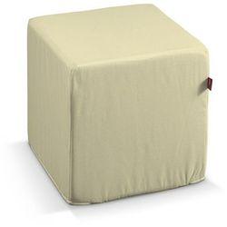 Dekoria  pufa kostka twarda, cream (kremowy), 40x40x40 cm, cotton panama