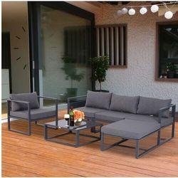 Aosom Meble ogrodowe metalowe 4-5 osob lounge