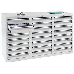 Stumpf-metall Szafka z szufladami, wys. x szer. x gł. 900x1500x500 mm, 24 szuflady o wys. 100