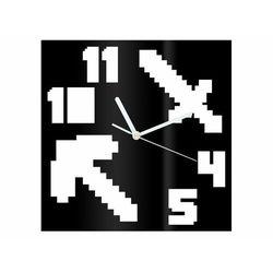 Zegar z pleksi na ścianę piksele z białymi wskazówkami marki Congee.pl