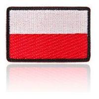 naszywka velcro flaga Polski standard 3,5 x 5,5 cm, czarne obszycie (NAS.FP35X55.ST), NAS.FP35X55.ST