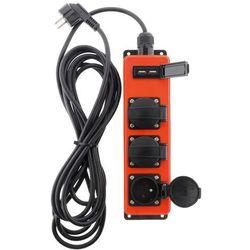 Przedłużacz warsztatowy Zenitech 3 gniazda z uziemieniem USB 3 m IP44, 189789-PL