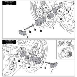 Crash pady PUIG do Kawasaki Versys 650 (czarne)