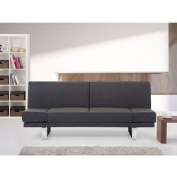 Sofa z funkcja spania ciemnoszara - kanapa rozkladana - wersalka - YORK ze sklepu Beliani
