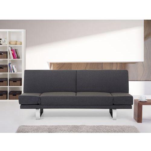 Rozkladana sofa ruchome podlokietniki - YORK ciemny szary ze sklepu Beliani