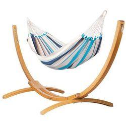 Hamak ze stojakiem drewnianym caribena & elipso 1os. marki Hamaki la siesta