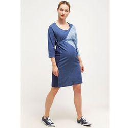 MAMALICIOUS MLTRINE Sukienka jeansowa medium blue denim z kategorii Sukienki ciążowe