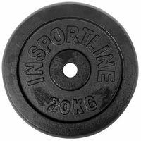 Obciążenie żeliwne Insportline Black (31 mm) 20kg - 20 kg, kup u jednego z partnerów