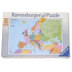 Puzzle edukacyjne Mapa polityczna Europy 500 elementów, AB spółka akcyjna z www.epinokio.pl