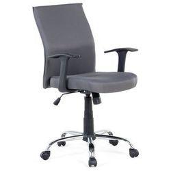 Beliani Krzesło biurowe - szare - obrotowe - tapicerowane - do komputera - elite (7081452554726)