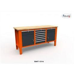 Malow Metalowy stół warsztatowy swt 17/04 trójka na narzędzia 9 szuflad