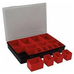 TAYG - Organizer na końcówki, elektronikę, śrubki itp. - 330 x 247 x 54 mm - 16 wyjmowanych pojemników (8412796035005)