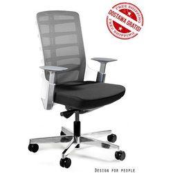 Unique Fotel biurowy spinelly m 998w - biały, wysuw siedziska + 21 kolorów siedziska.