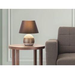 Beliani Nowoczesna lampka nocna - lampa stojąca - brązowa - sado (7081451442130)