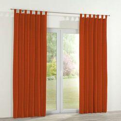 Dekoria Zasłona na szelkach 1 szt., pomarańczowa prążkowana tkanina, 1szt 130x260 cm, Wyprzedaż do -30%