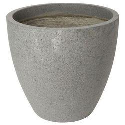 Verve Donica efekt cementu okrągła 50 cm antracyt