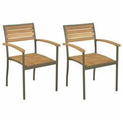 Zestaw sztaplowanych krzeseł ogrodowych - Ridley, vidaxl_44236