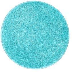 dywanik łazienkowy lex, niebieski, ⌀80cm marki Grund