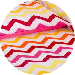 Mamo-tato dwustronna pościel 2-el zygzak żółto-czerwony / ciemny róż do łóżeczka 60x120cm