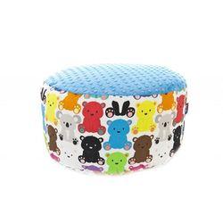 Cuddly Zoo, Pufa, Kolorowe misiaczki, błękitna z kategorii Pozostałe meble do pokoju dziecięcego