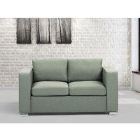 Beliani Sofa oliwkowa - dwuosobowa - kanapa - sofa tapicerowana - helsinki
