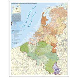 Benelux Belgia Holandia Luksemburg mapa ścienna kody pocztowe 1:420 000 Stiefel na podkładzie korkowym