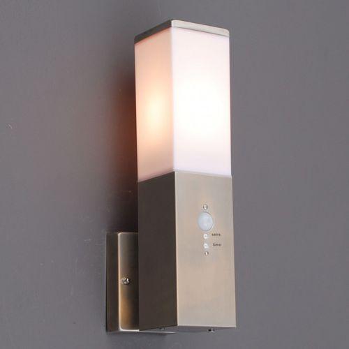 Lampa zewnętrzna Malios ścienna z czujnikiem ruchu na podczerwień z kategorii lampy ścienne