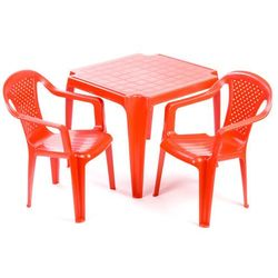 stolik i dwa krzesła dla dzieci, czerwone marki Grand soleil