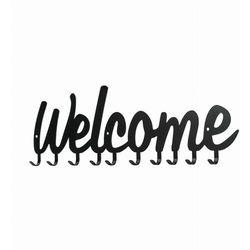 Wieszak ścienny Welcome czarny (5095853210220)