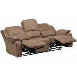 3-osobowa sofa z funkcją relaks z mikrofibry hernani - taupe marki Vente-unique