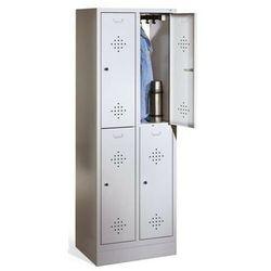 Metalowa szafa socjalna 4-drzwiowa szer. 61 cm marki Cp