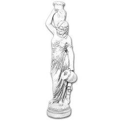 Figura ogrodowa betonowa kobieta z dzbanami 142cm