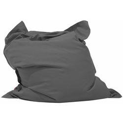 Pufa do siedzenia z powłoczką wewnętrzną 140 x 180 cm ciemnoszara marki Beliani