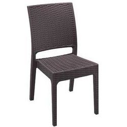 Krzesło ogrodowe na taras technorattan Florida Siesta brązowe z kategorii krzesła ogrodowe