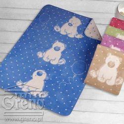 Greno Kocyk dla dzieci 100x150 sweet bear niebieski-
