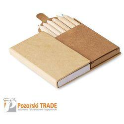 Notatnik w formie karteczek samoprzylepnych 6 kredkami LUNA - produkt z kategorii- Upominki