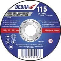 Tarcza do cięcia DEDRA F13322 125 x 1.5 x 22.2 do stali
