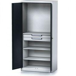 B2b partner Szafa warsztatowa mechanic, 1950 x 920 x 500 mm, 3 półki, 2 szuflady, antracytowe drzwi