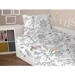 Pościel bawełniana Greno dla dzieci do kolorowania 160x200 Girl, 4ABC-61842