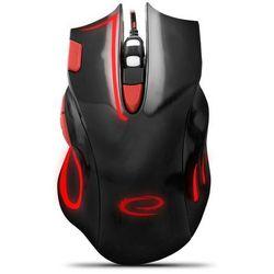 myszka przewodowa dla graczy hawk czarno-czerwona marki Esperanza